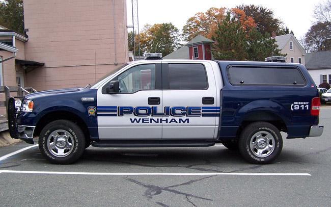 Wenham Police Truck | Cape Ann Sign & Screen